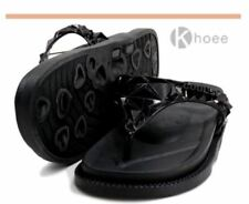 Khoee Veronica Women's Slides Flat Slippers Sandals BLACK SIZE 38