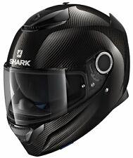 Casco Integrale in Fibra Shark Spartan con visierino Parasole Carbonio Non applicabile S