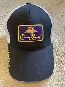 Crown Royal Hat Liquor Advertising One Size Adjustable Baseball Hat Cap NEW