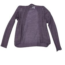 Delia's Womens Purple Cardigan Top Long Sleeved Size Small DELIA*s Knit Pattern