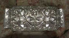 Vintage Hammered Aluminum Rose Pattern With 2 Glass Inserts Appetizers