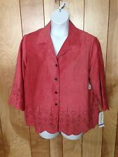 WOMEN'S ALFRED DUNNER BUTTON-DOWN TOP-SIZE: 18