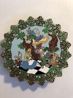 Disney Alice In Wonderland White Rabbit Cheshire Caterpillar Round Fantasy Pin