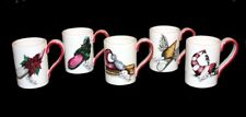4 HOLIDAY LANE Elf Fancy Shoes Mugs Gold Highlights Different Names Mugs NEW