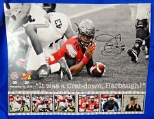J.T. Barrett Signed Ohio State Football 16x20 Photo PSA Sticker No Card