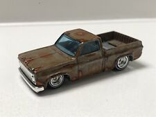 Hot Wheels CUSTOM '83 Chevy Silverado Rusty Barn Find W/ RRs 1 Of 1 FREE SHIPP