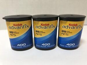Lot of 3 Kodak Advantix 400 APS Film - 25 Exp Advanced Camera Photo Film