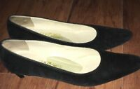 Salvatore Ferragamo Size 9 3A AAA Narrow Black Heels Pumps Women's Shoes