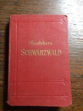 Baedekers  Reiseführer 1921 Schwarzwald, Odenwald, Bodensee Freiburg Frankfurt