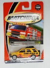 Matchbox 2000 #100 Isuzu Rodeo, Yellow, On the Road Again, new card