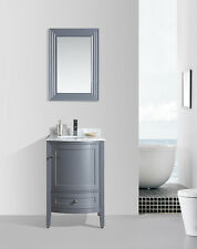 "BLOSSOM 24"" ROME SINGLE SINK BATHROOM VANITY WITH MARBLE TOP, GREY COLOR"