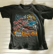 IRON MAIDEN 1982 TOUR T-SHIRT METALLICA SLAYER ORIGINAL SUPER Rare!