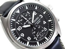 SEIKO Chronograph SNN231P2 Orologio Crono Uomo Pelle Men's Watch Neo Sport