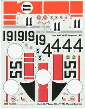 1/24 FORD GT40 MKI ESSEX WIRE #19 MONZA 1966 GULF #11 DAYTONA 1967 DECAL FUJIMI