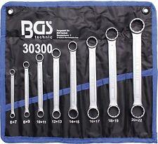 BGS 30300 Doppel Ringschlüssel Satz 8-tlg. ( Extra Flach ) SW 6-22mm, Doppelring