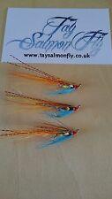 3x Tronach Shrimp  Size 10 Treble Hook  Salmon Fishing Flies FREE POSTAGE