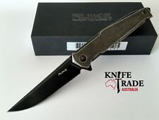 Ruike P108-sb Folding Pocket Knife Black Beta Plus Lock up System Sandvik14c28n