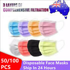 50/100x Face Mask Disposable Surgical Black Mouth Masks Certified 3layer <br/> 🔥SAVE UP TO 22% ❗❗❗ CE Certified🔥
