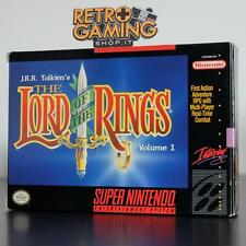 THE LORD OF THE RINGS VOLUME 1 USA SNES SUPER NINTENDO COMPLETO CIB