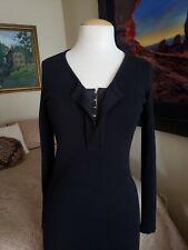 Fuzzi Wool Black Dress Size M