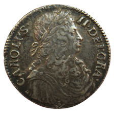 More details for 1669 scotland charles ii silver one merk coin