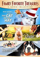 Family Favorite Treasures 3 Movie Collection (DVD) SHIPS NEXT DAY Cat In The Hat