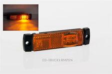 LED UMRISSLEUCHTE - REFLEKTOR MIT 4 LED SEITLICH - GELB - 130 x 32mm