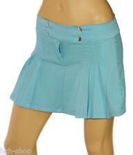 Jeans Faltenrock Minirock Kellerfalten Rock breiter Bund Blue Queen 34 36 38 40