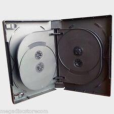 New 2 Pk MegaDisc Black Multi DVD Case Box 33mm 10 Discs Holder W Flap Premium