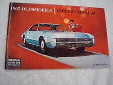 New Listing1967 Oldsmobile Toronado Nice Original Owners Manual