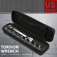 "1/4"" 1-25NM Drive Torque Wrench Set | Automatic Click Adjustable Gauge Ratchet"