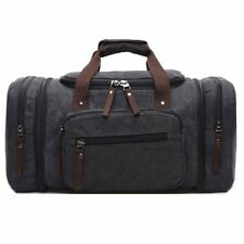 d2aecc441cb2 Aizbo Large Canvas Holdall Travel Duffel Bag Overnight Weekend Weekender  Bags