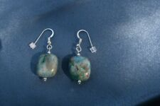 Ajoite and Papagoite Earrings(Sterling Silver) Love, 4860