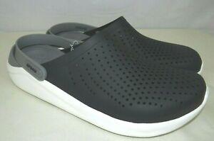 Literide by Crocs Men's Clogs Breathable Lightweight Black/Grey Shoes Size 12 US