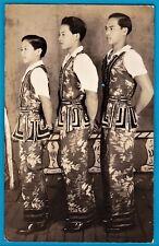 rppc photo China circus Chinese boys circo chino Palos Cuba cirque foto ca 1925