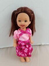 Barbie KELLY CLUB Doll Kelly Barbie Sister Pink Party Dress Beautiful Hair