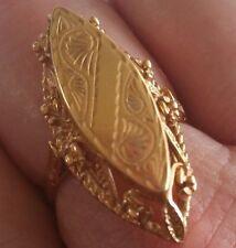 Estate vintage solid 583 (14K) Russian rose gold ring 6.09g Rare