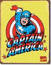Captain America Retro Tin Metal Sign Wall Art Home Decor Plaque Plate Marvel Com