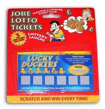 4 entradas ganando Scratch Tarjeta broma Lotto lotería falsos Fiesta Juguete Divertido Broma Truco