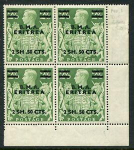 British Occ. Italian Cols (Eritrea) 1948-49 2s50/2s6d SG E.10/10a m (cat £219)