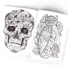 Tattoo Reference Book 126 Pages Dragon Skull Snake Wolf Animal Design Sketch