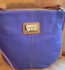 Tignanello All Star Pebble Leather Convertible Crossbody Bag Blueberry