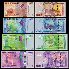 Uganda 1000 + 2000 +5000 +10000 Shillings BrandNew Banknotes set 4PCS