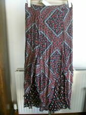 """Crinkle Red Mix Layered/Tiered Skirt, Size 16, Waist 35"""" Length 36"""" M&S, BNWT"""