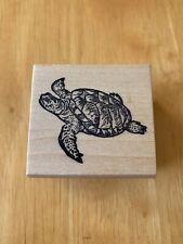 All Creatures Rubber Stamp Sea Turtle Tortoise Ocean Life