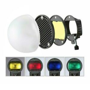 Magnetic Mount Adapter Honeycomb Grid Reflector Color Gel Filters Diffuser Ball