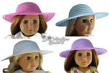 Lot of 4 Straw Sun Hats Bonnets for American Girl Doll Clothes Accessories