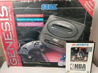 Sega Genesis Model 2 With Box, Cables, Controller And Game Read Description