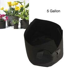 Round Fabric Pots Plant Pouch Root Container Grow Bag Aeration Pot 5 Gallon GA