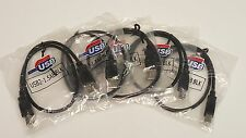 Hi-Speed USB 2.0 Cable Type A Male to Type B Male For Printer 1.5 ft // Lot of 5